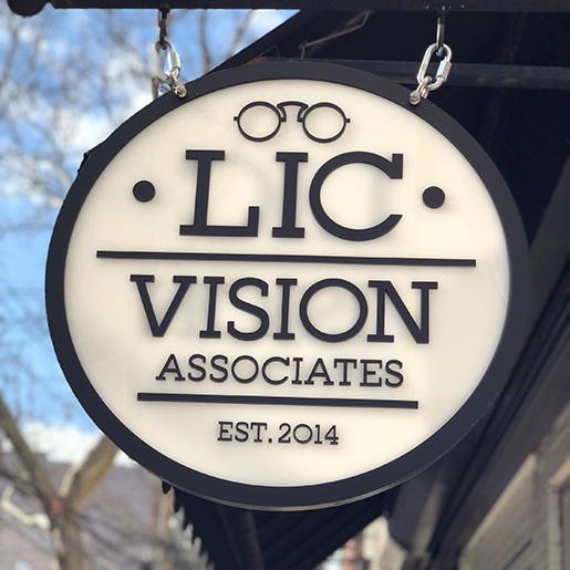 front sign at LIC Vision Associates